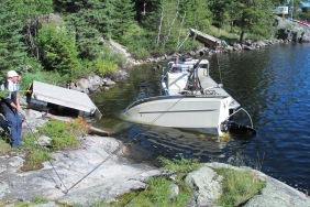boat turning